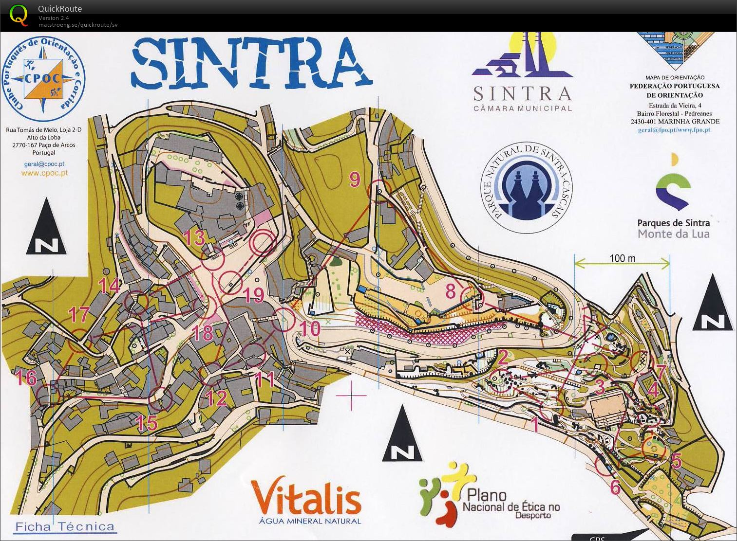 Sprint Sintra March 8th 2014 Orienteering Map From Albin Ridefelt