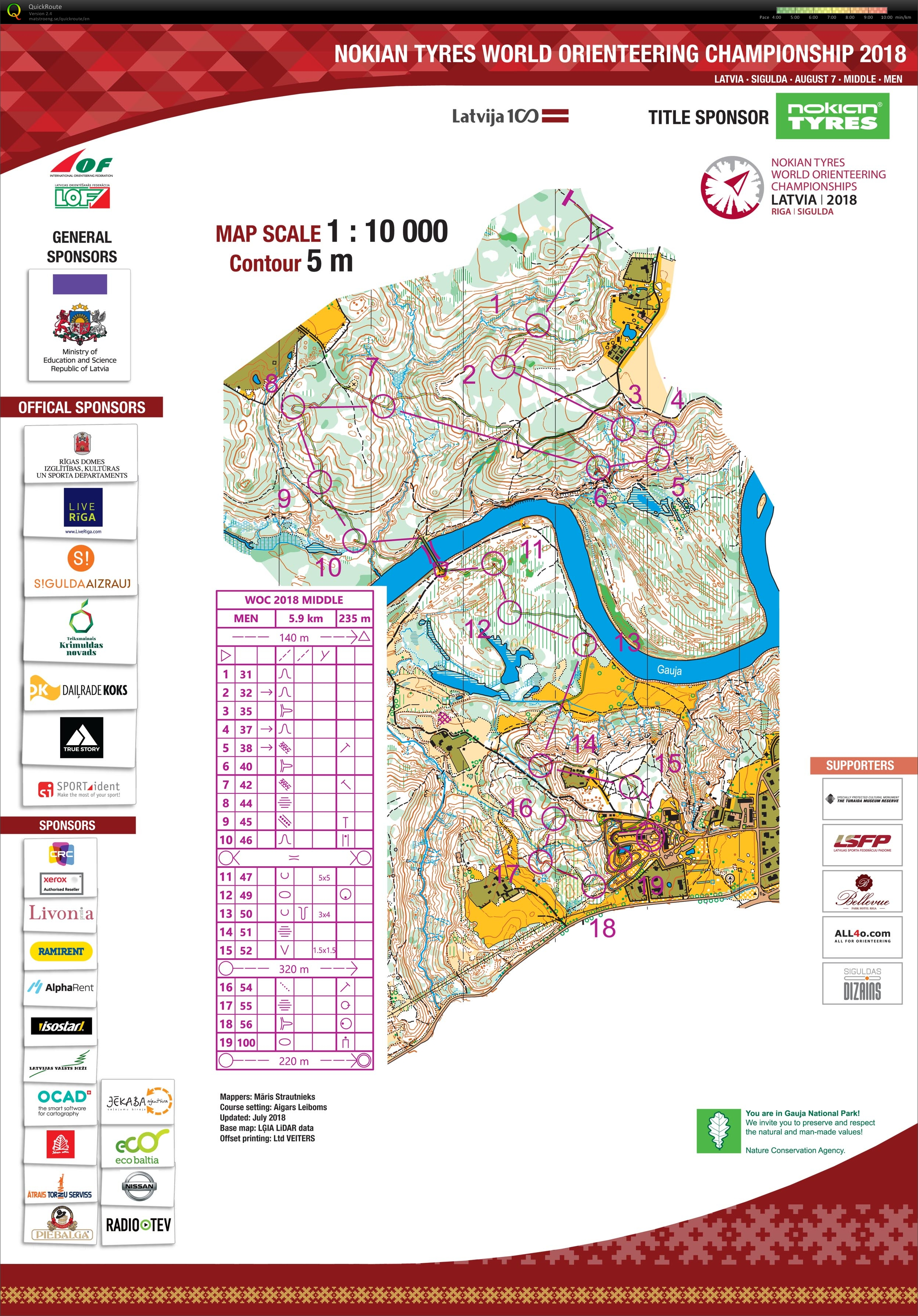 My Digital Orienteering Map Archive Woc 2018 Latvia Middle
